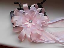 Pierka - svadobné pierko veľké v ružovom - 10746926_