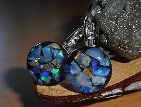 Náušnice - flutuante opalas-colors for happy - 10748292_