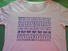 Tričká - čičmany-in blue-tričko - 10748390_