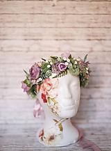 Ozdoby do vlasov - Romantický kvetinový venček z kolekcie LÚKA - 10748674_