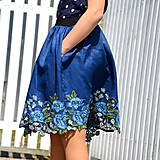 Detské oblečenie - VYŠÍVANÁ sukňa na leto s VRECKAMI - 10745341_