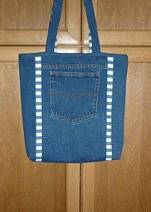 Veľké tašky - Ríflová taška (dva varianty)  (kombinovaná) - 10747054_
