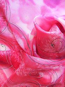 Šatky - Fuchsie / hedvábný šátek 75 x 75 cm/ - 10746871_
