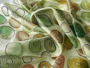 Šatky - Kamínky /hedvábný šátek 75x75cm/ - 10747512_