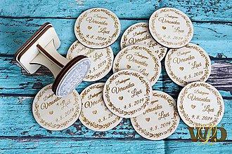 Darčeky pre svadobčanov - Svadobné magnetky - 10745978_