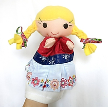 Hračky - Maňuška folk dievčinka - Irenka - 10744857_
