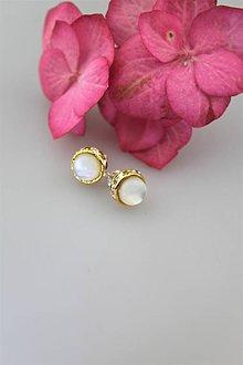 Náušnice - perleť náušnice - 10748178_