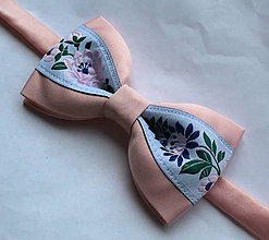 Doplnky - ružový folk motýlik - 10746676_