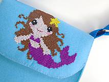 Detské tašky - Moja prvá kabelka (Morská víla) - 10744917_