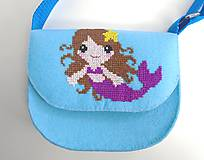 Detské tašky - Moja prvá kabelka (Morská víla) - 10744919_