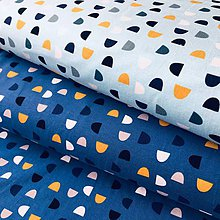 Textil - bavlnený úplet Tyrkysové kopčeky, šírka 160 cm - 10746240_
