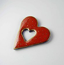 Odznaky/Brošne - Tana šperky - keramika/zlato - 10747349_