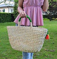 Kabelky - Jednoduchá letná košíková kabelka do ruky - 10748640_