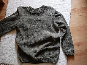 Svetre/Pulóvre - jednoduchý pletený pulovrik, , - 10747212_