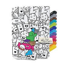 Na mobil - Kreatívne puzdro Doodle - 10745480_