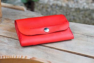 Peňaženky - Kožená peněženka MontMat -  červená - 10747548_