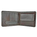 Tašky - Peňaženka z prírodnej kože v tmavo hnedej farbe - 10746347_