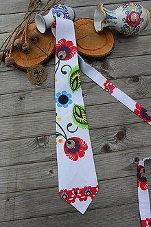 Doplnky - Pánska kravata -folk - 10745746_