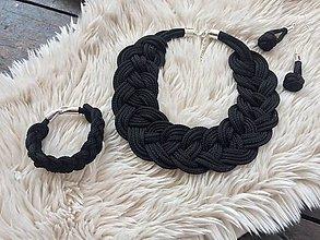 Náhrdelníky - Lanový set - černý - 10746430_