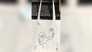 Iné tašky - ♥ Plátená, ručne maľovaná taška ♥ - 10746823_