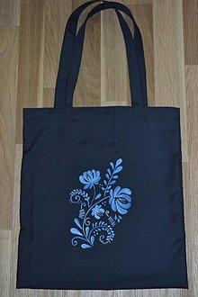 Nákupné tašky - modry kvet - 10745934_