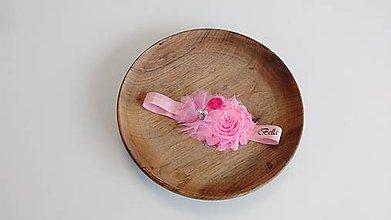 Detské doplnky - Ružová čelenka pre dievčatko - 10746590_