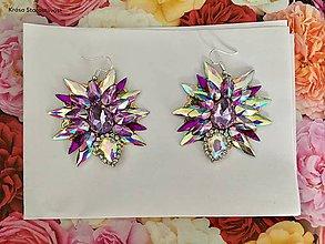 Náušnice - Náušnice - Purple star - 10746345_