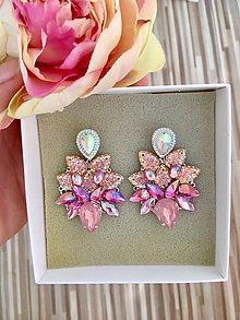Náušnice - Náušnice - Pink flowers - 10746397_