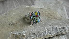 Prstene - Prsteň štvorec - 10746722_