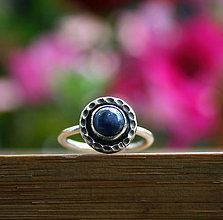 Prstene - Strieborný prsteň s lapisom lazuli - 10746411_