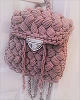 Háčkovaný ruksačik