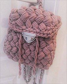 Batohy - Háčkovaný ruksačik - 10745424_