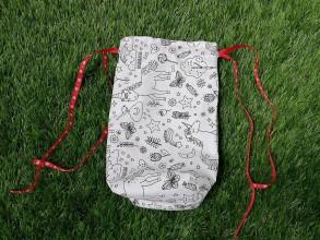 Textil - Vrecko na vymaľovanie jednorožec - 10748376_