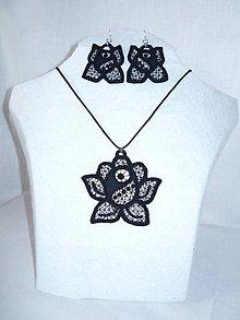 Sady šperkov - Vyšívaný set - ruža - 10747144_