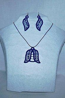 Sady šperkov - Vyšívaný set - konvalinka - 10747284_
