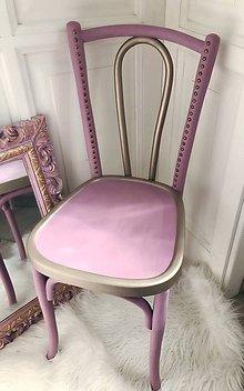 Nábytok - Ružová stolička baby pink - 10745209_