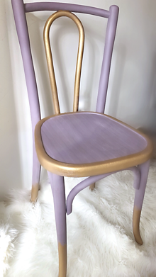 Nábytok - Fialová stolička lilac kiss - 10745239_