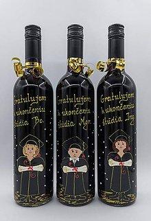 Nezaradené - Fľaša k promócii ručne maľovaná - 10747130_