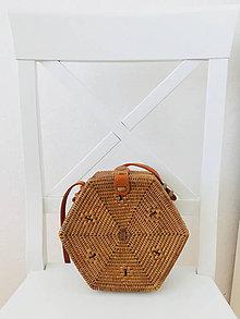 Kabelky - Kabelka z Bali Hexagon - 10745528_