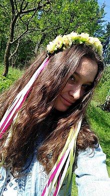 Ozdoby do vlasov - Vienok zelený - 10744995_