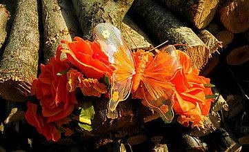 Ozdoby do vlasov - Odvážne oranžová - 10745606_