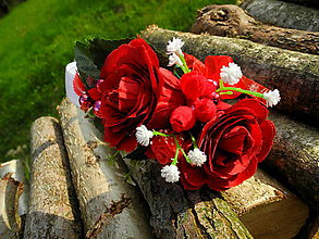 Ozdoby do vlasov - Z ruže kvet - 10745835_
