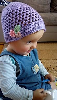 Detské čiapky - Jarná čiapka - 10746124_