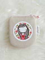 Peňaženky - Peňaženka - dievčatko s ružami - 10748244_