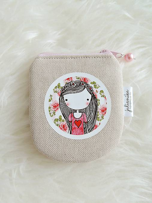Peňaženka - dievčatko s ružami