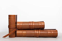 Papiernictvo - Kožený zápisník Georg - 10745752_