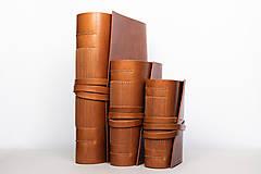 Papiernictvo - Kožený zápisník Dario - 10746163_