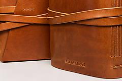 Papiernictvo - Kožený zápisník Dario - 10746167_