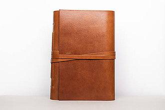 Papiernictvo - Kožený zápisník Leonard - 10746073_