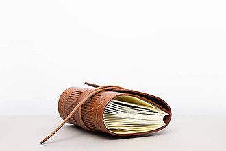 Papiernictvo - Kožený zápisník Jan - 10746121_